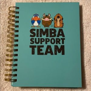 lion king simba support team notebook